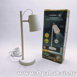 LED galda lampa matēti baltā krāsā