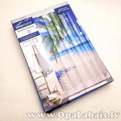 Dušas aizkari - tropiskā pludmale