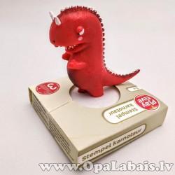 Dinozaura figūriņa ar zīmogu (sarkana)