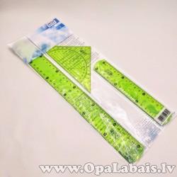 Lineālu komplekts - 3gab., zaļš