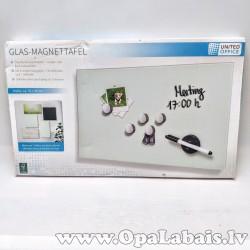 Magnētiskā stikla tāfele - balta