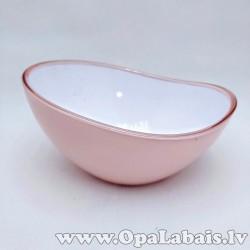 Desertu, salātu bļodiņa (debesmannas rozā)