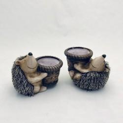 Dekoratīvas ežu figūriņas