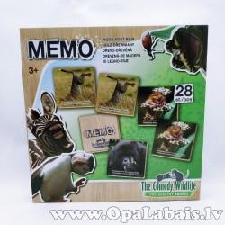 Koka atmiņas spēle - savvaļas dzīvnieki