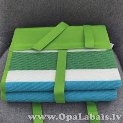 Pludmales paklājs (balts, zaļš strīpains)