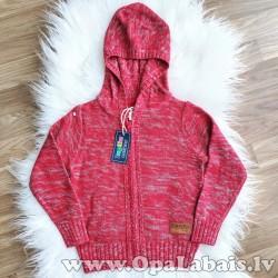 Bērnu jaka ar kapuci, sarkana (98/104)