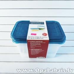 Plastmasas trauku komplekts  (3 gb., 2,0l,...