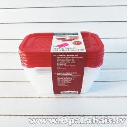 Plastmasas trauku komplekts  (5 gb., 0,5l,...