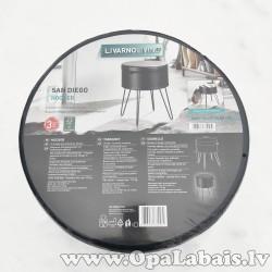 Sēdeklis industriālā stilā (melns)