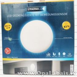LED Griestu- sienas lampa ar kustību sensoru