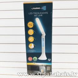 Uzlādējama LED galda lampa ar pulksteni...