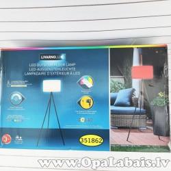 Solārā krāsu mainošā terases lampa
