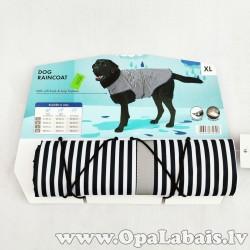 Lietus mētelis suņiem (XL izm., svītrains)