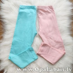 Legingi meitenēm (rozā+gaiši zili, 2 gb.,...