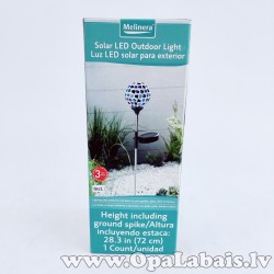 Solārā LED gaisma - dekorācija dārzam (zila)