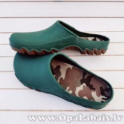 Dārza apavi (zaļi ar brūnu zoli)