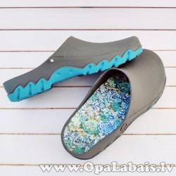 Dārza apavi (haki ar zilu zoli)