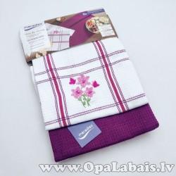 Virtuves dvieļu komplekts (2 gb., violets,...