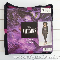 Disney Villains sieviešu pidžama (melna,...