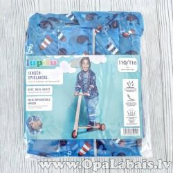 Bērnu lietusmētelis ar bākām (zils, 110/116)