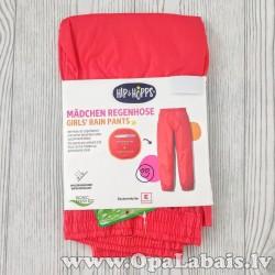 Meiteņu lietus bikses (sarkanas)