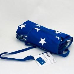 Piknika sedziņa - zila/ar zvaigznītēm