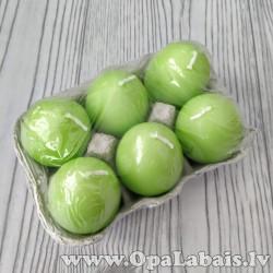 Sveču komplekts - olas, zaļas