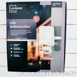 LED prožektors ar sensoru 24w (balts)