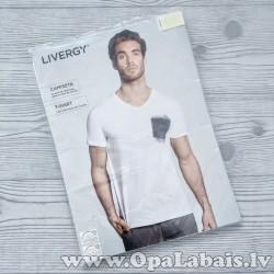 Vīriešu t-krekls (balts ar kabatas zīmējumu)