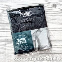 Vīriešu t-krekls (melns, V kakla izgriezums)