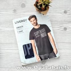 Vīriešu t-krekls (melns, ar apdruku)