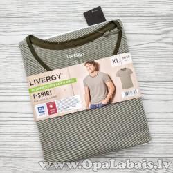 Vīriešu t-krekls (zaļibalts svītrojums,...