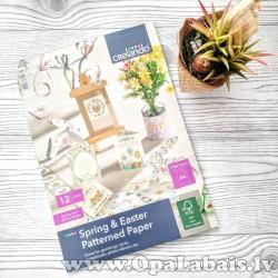 Pavasara tematikas dekoratīvais papīrs A