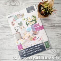 Pavasara tematikas dekoratīvais papīrs B