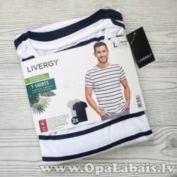 Vīriešu t-kreklu komplekts (svītrains,...