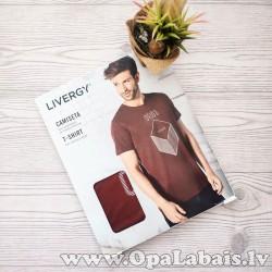 Vīriešu t-krekls (sarkanbrūns ar apdruku,...