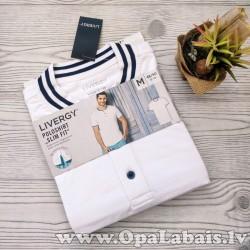 Vīriešu polo krekls (balts, M, 48/50 EUR,...