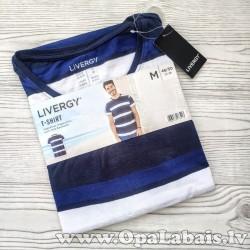 Vīriešu t-krekls (strīpains, M, 48/50 EUR)