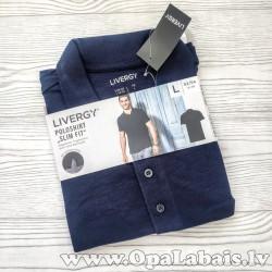 Vīriešu polo krekls (tumši zils, slim fit,...