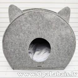 Saliekama kaķu ala (pelēka)