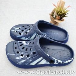 Iešļūcenes/ dārza apavi (tumši zili raibi)