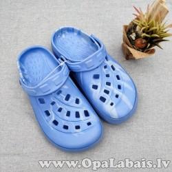 Iešļūcenes/ dārza apavi (gaiši zili raibi,...