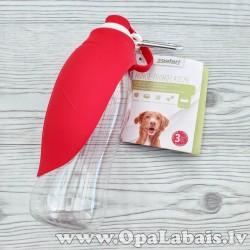 Padzeršanās pudele suņiem (sarkana)