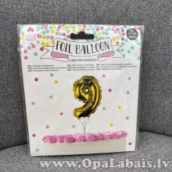 Folija balons kūkai (cipars 9)