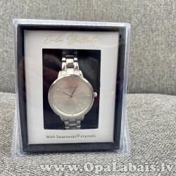 Sieviešu rokas pulkstenis (sudraba krāsā)