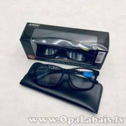 Lasīšanas brilles - melnas, ar maciņu