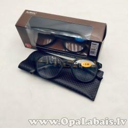 Lasīšanas brilles - brūnas, ar maciņu