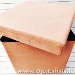 Taburete ar noņemamu vāku (rozā, 40 x 40 x...