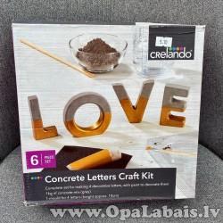 Radošs betona burtu komplekts (LOVE)