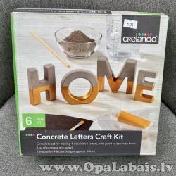 Radošs betona burtu komplekts (HOME)